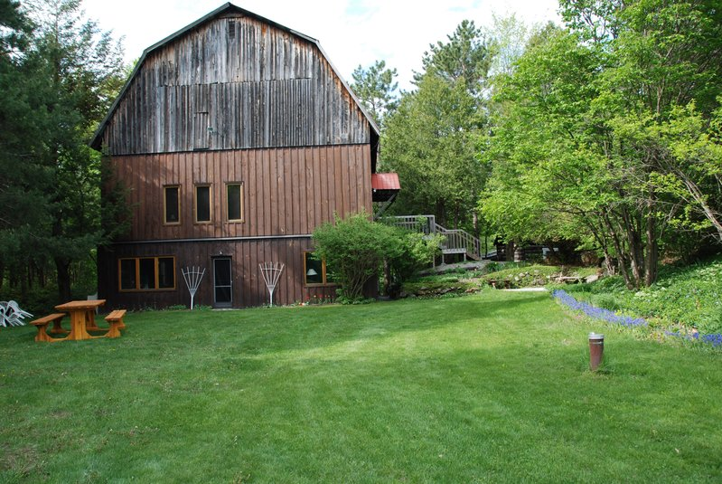 Exterior of 'The Barn' training location for wilderness medicine courses