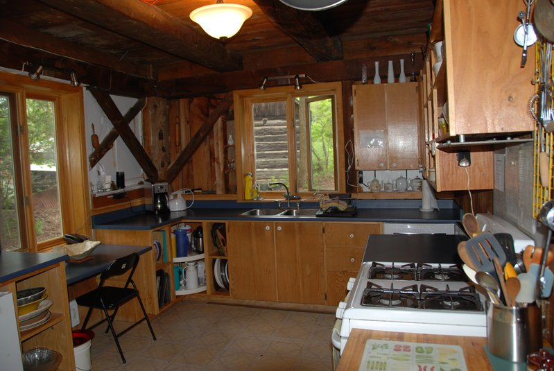 Kitchen of 'The Barn' in Gatineau Hills