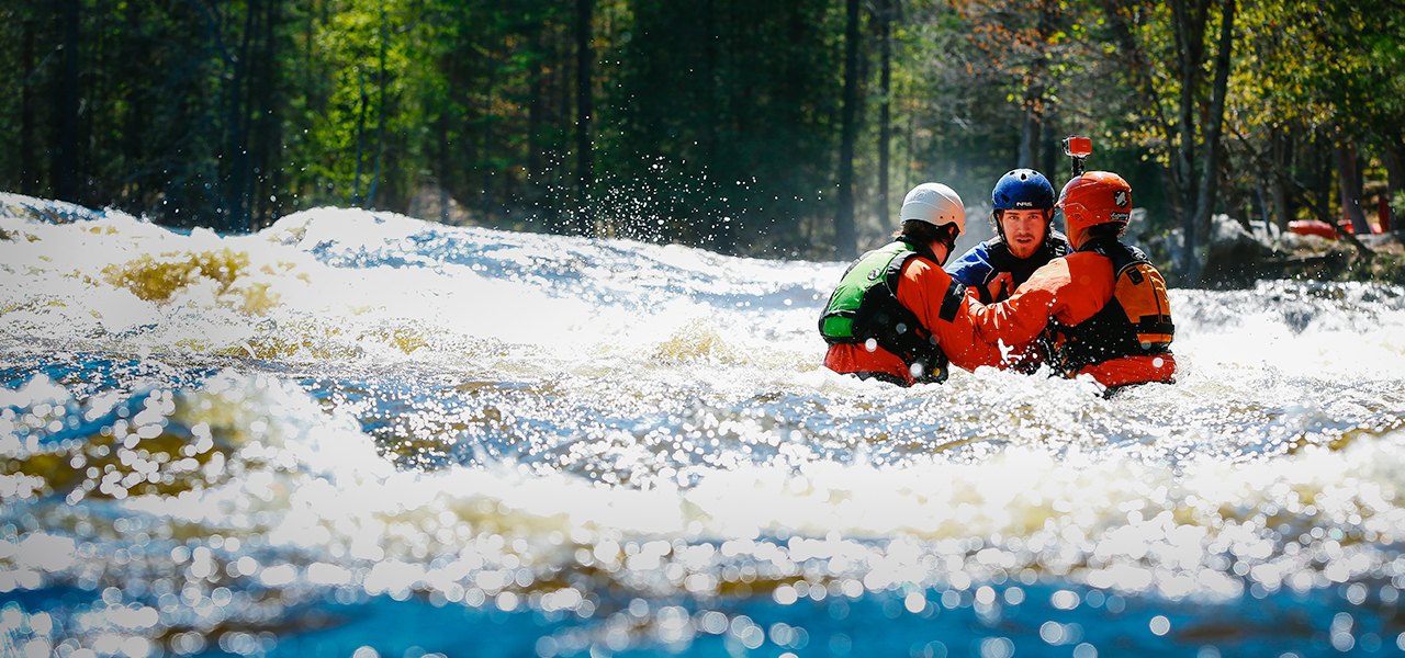 Whitewater rescue certification course