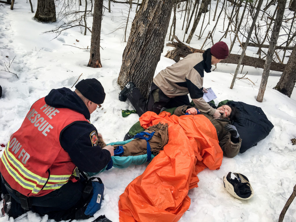 Wilderness Advanced First Aid course with the Low, Quebec fire department